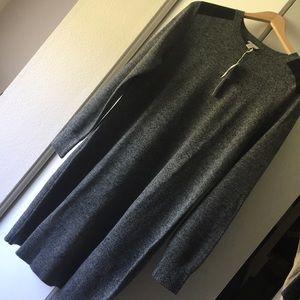 Gray Gap Dress.  100% merino extra fine wool